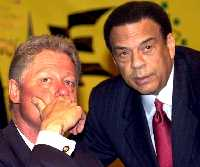 andrew young and bill clinton